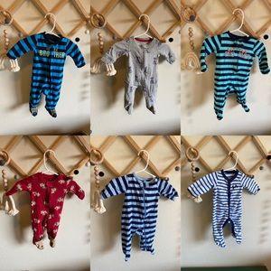 Set of 6 Newborn Pajamas